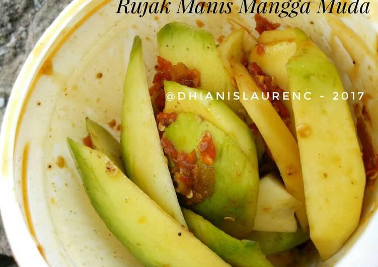 Cara Mudah memasak Rujak manis mangga muda/rujak pencit sederhana/kimchi Indonesia