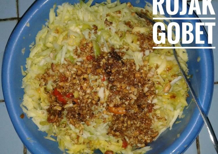 Resep: Rujak Gobet (rujak pasrah/serut)