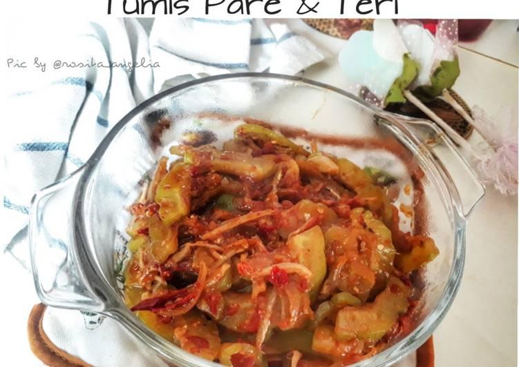Resep: Tumis Pare & Teri (Tips No Pahit) istimewa