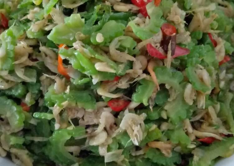 Resep memasak Tumis pare udang rebon lezat