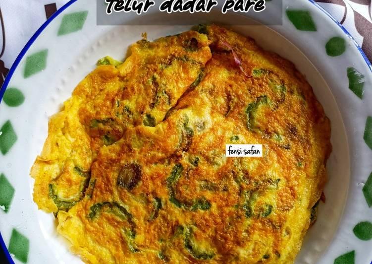Cara membuat Telur Dadar Pare (khas Pontianak)