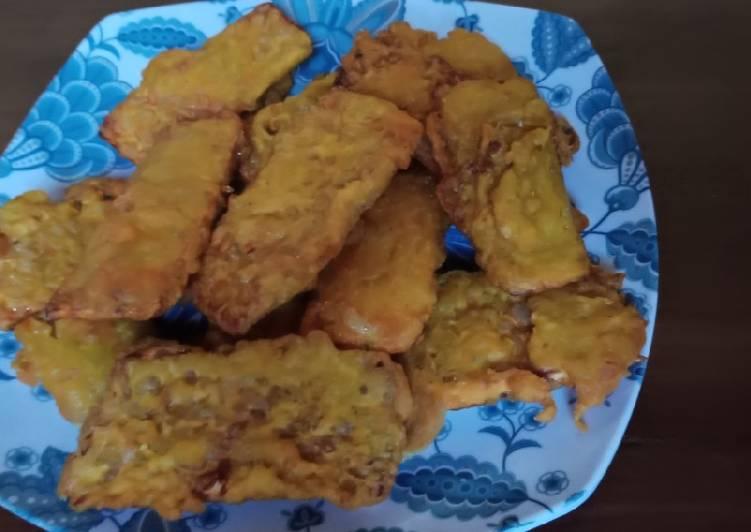 Resep memasak Tempe goreng biasa, tapi kwalitas masak tetap terjamin yummy enak