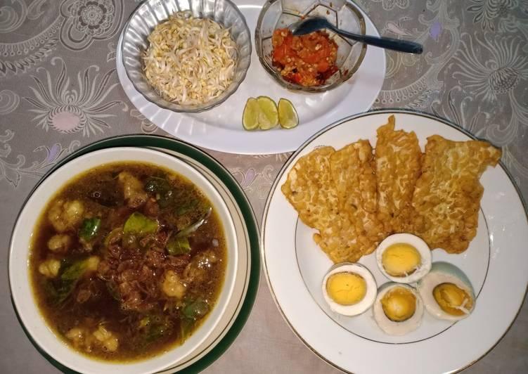 Resep: Rawon dan Tempe Goreng