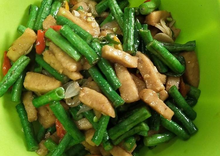 Resep: Tumis kacang panjang tempe gembus