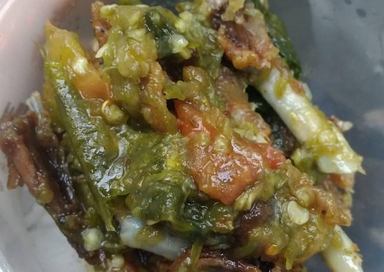 Resep: Ayam goreng sambal ijo
