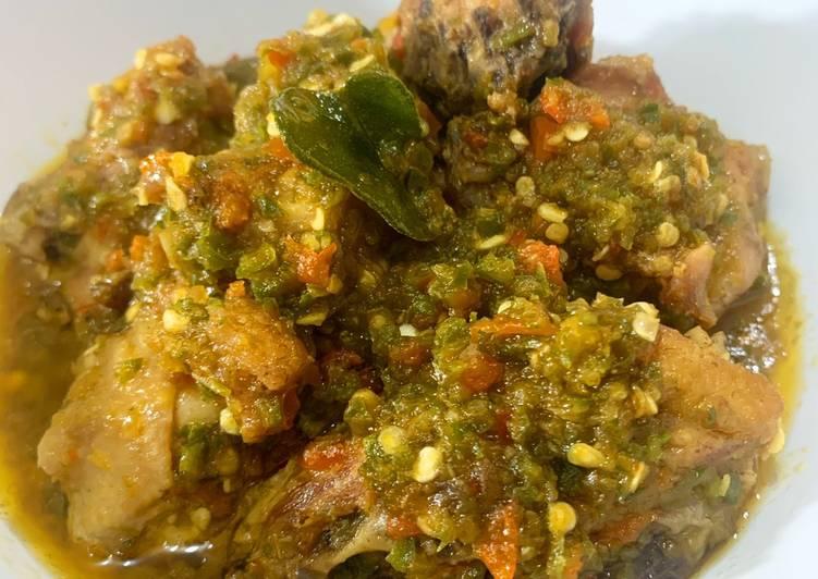 Cara Mudah membuat Ayam sambal hijau