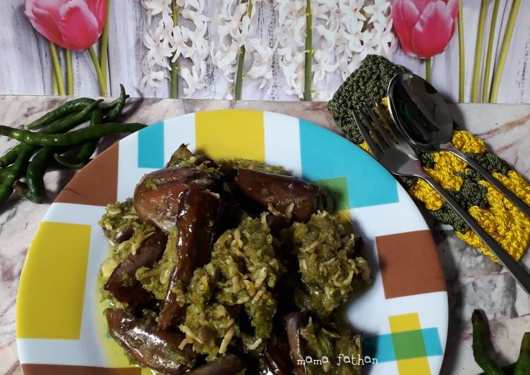 Resep: Sambal hijau teri terong istimewa