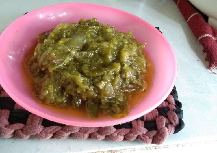 Resep memasak Sambal ijo simpel lezat