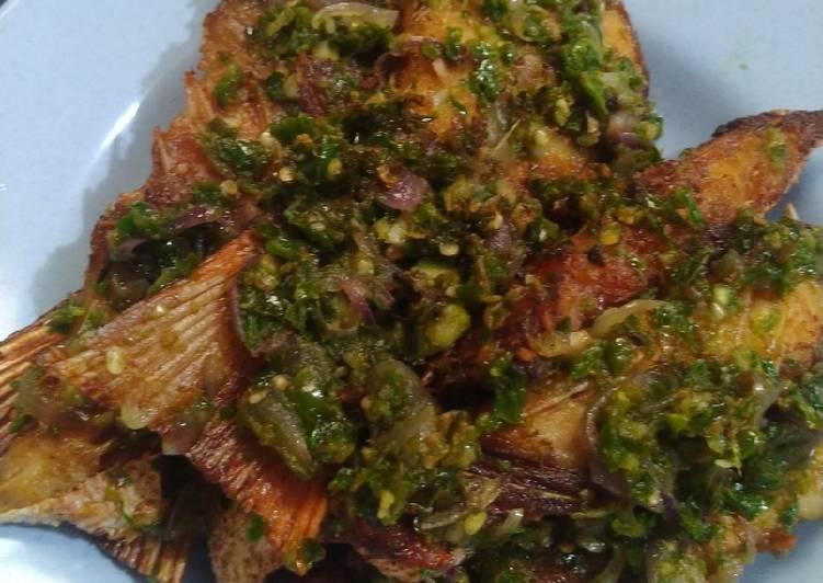 Resep: Ikan sambal hijau
