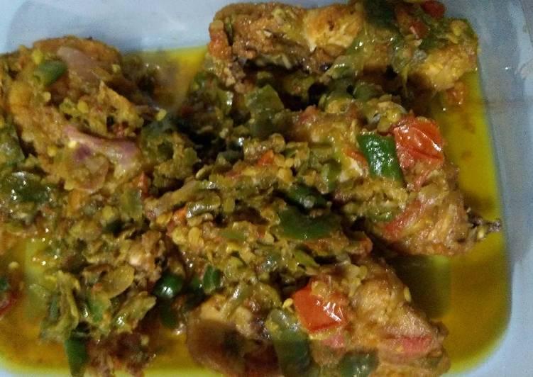 Resep: Ayam sambal ijo enak
