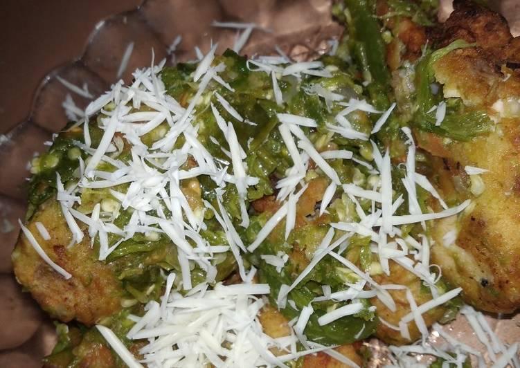 Resep: Ayam geprek keju sambal ijo istimewa