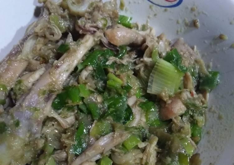 Resep: Ayam suwir sambel ijo enak
