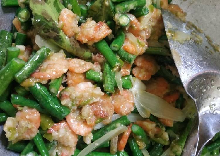 Cara Mudah memasak Udang sambal ijo Kacang panjang #40