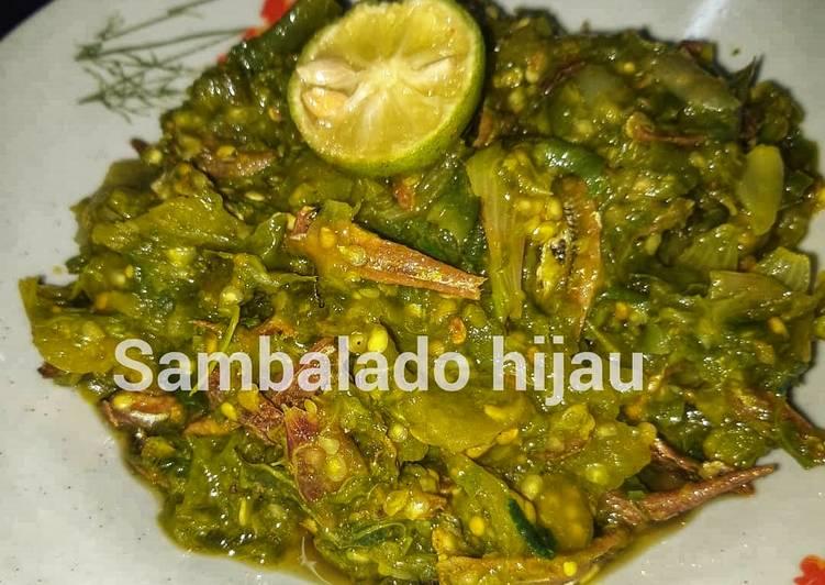 Resep memasak Sambalado hijau