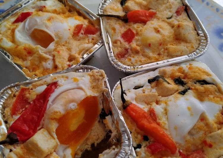 Cara Mudah mengolah Botok telur Asin Mix tahu kemangi