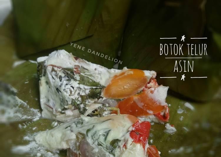 Botok (pepes) Telur Asin #Dandelion