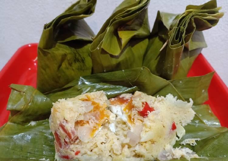 Resep: (Seri Pepes) Botok kelapa telor asin lezat