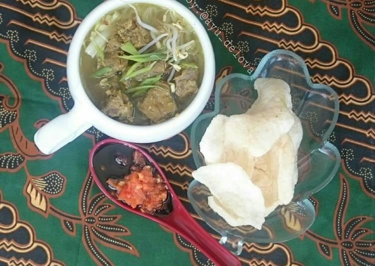 Resep: Soto daging sapi istimewa