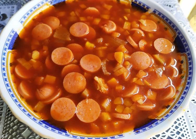 Resep membuat Sup merah surabaya