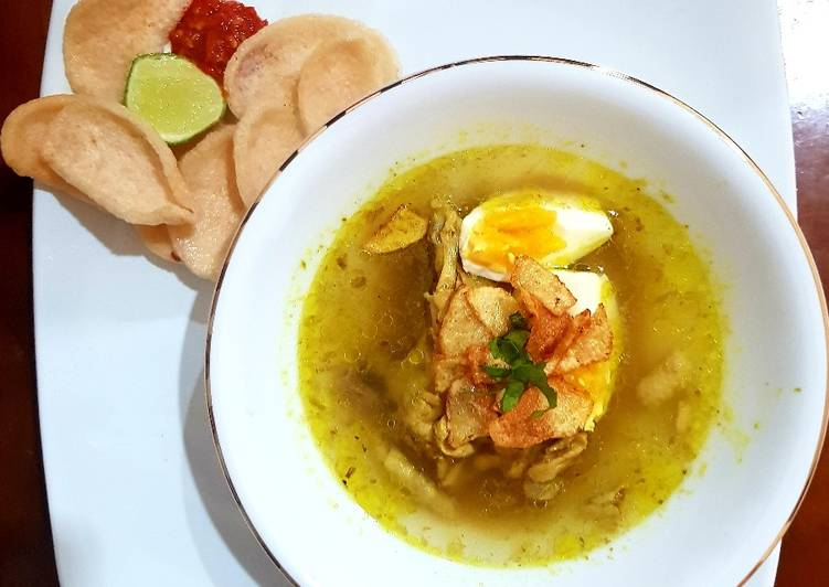 Resep mengolah Soto ayam kondangan Surabaya enak