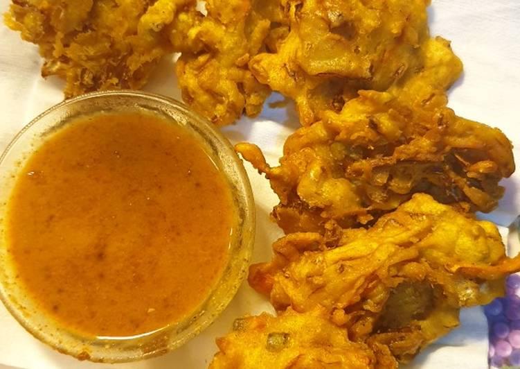 Resep: Bakwan sayur / Ote Ote Surabaya bumbu kacang