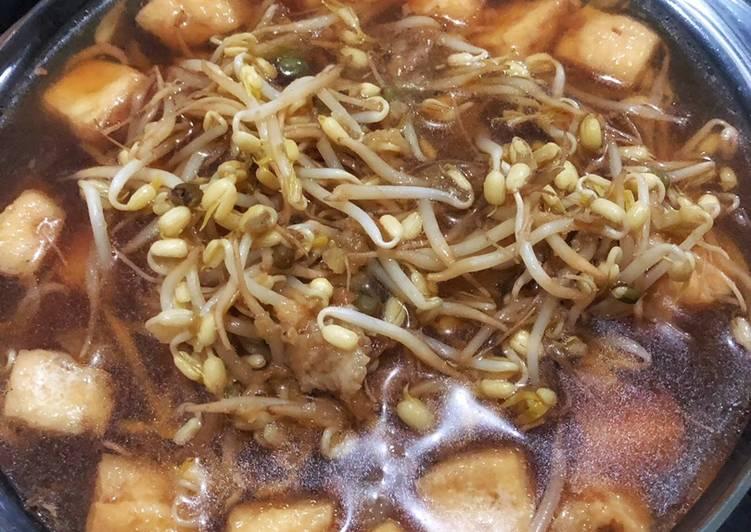 Resep: Taoge masak kuah lontong balap surabaya