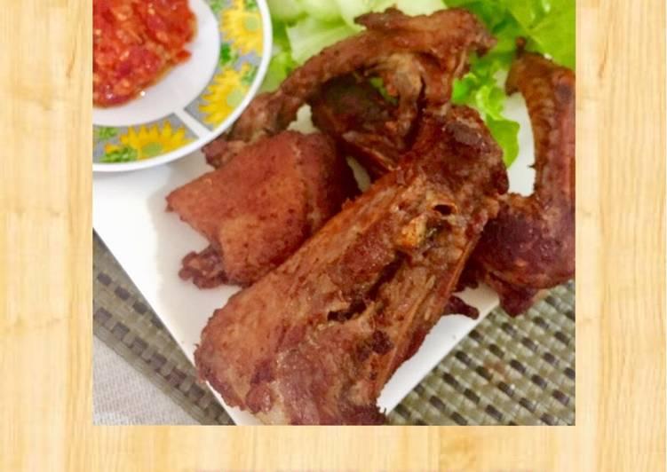 Cara Mudah membuat Bebek goreng dan sambel korek