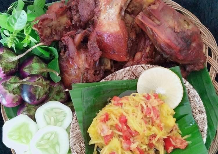 Cara mengolah Bebek bacem goreng sambel pencit🦆 lezat