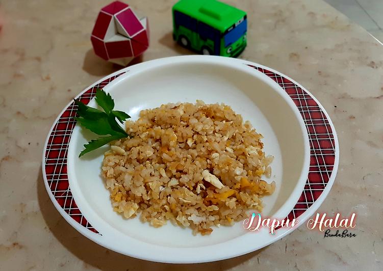 Cara mengolah Nasi Goreng Telur Bebek Blueband : mpasi 15++