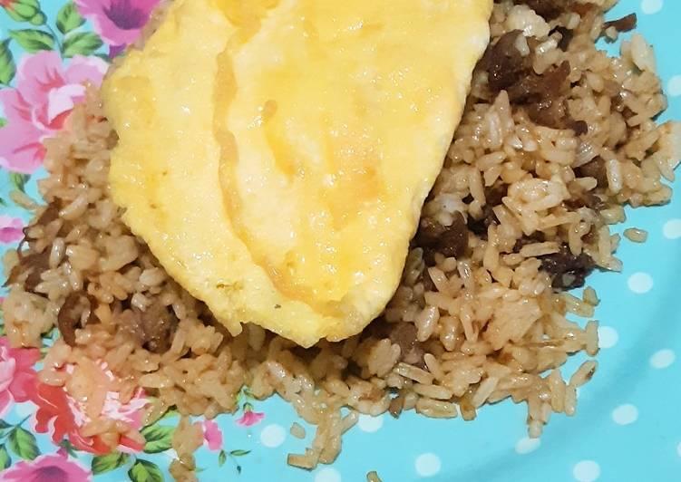 Cara memasak Nasi Goreng Ikan Peda dengan Telor Bebek lezat