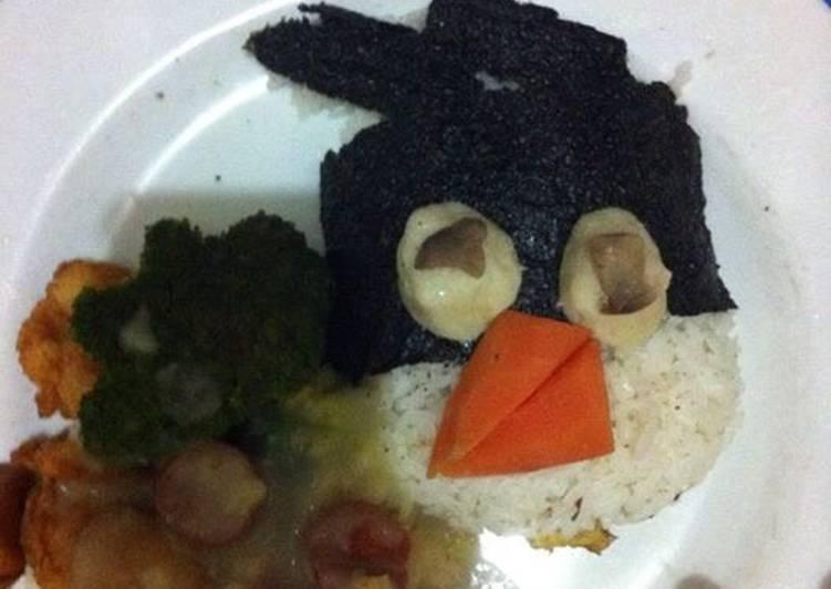 Resep: Nasi bebek with udang goreng tepung,brokoli,jamur n sup cream ayam enak