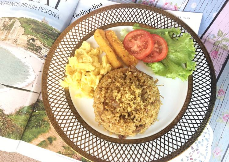 Cara mengolah Nasi Goreng Bebek dan Telur ala McD
