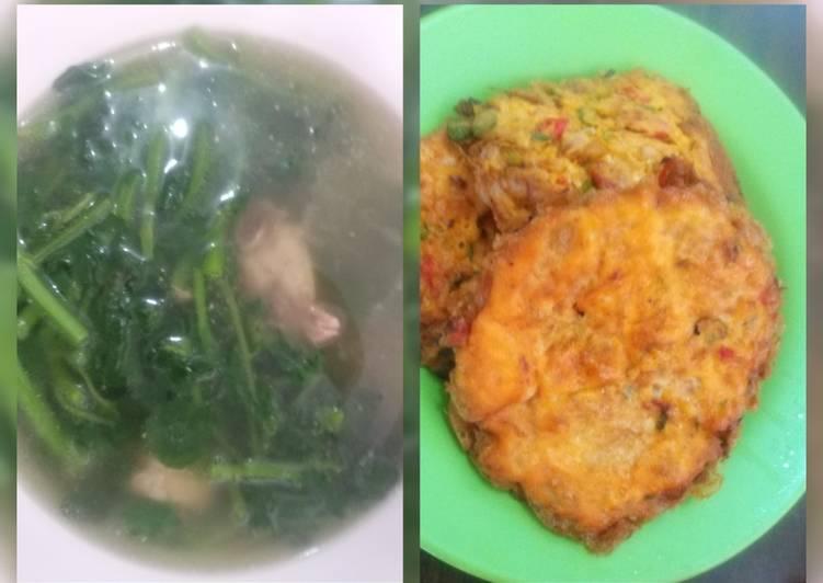 Resep: Sop sayur parit & telur bebek goreng daging