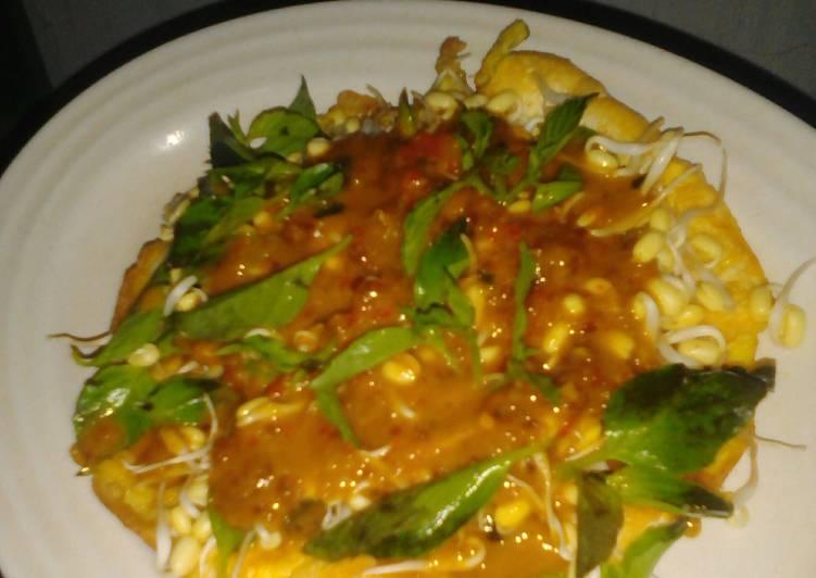Cara Mudah memasak Tahu telur ala surabaya (siram sambel pecel) lezat