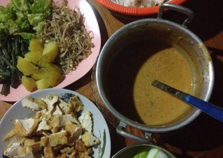 Resep: Gado Gado Surabaya (sambel pecel instan) enak
