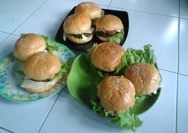 Resep: Burger daging semanggi lezat