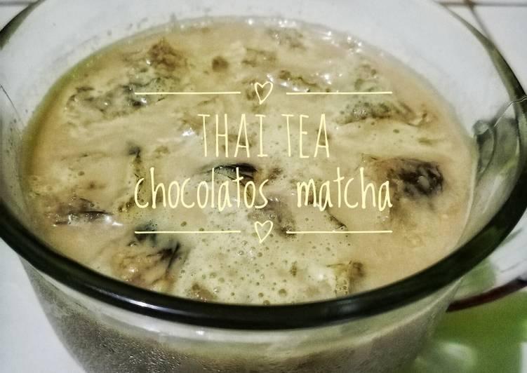 Resep: Thai tea chocolatos matcha lezat