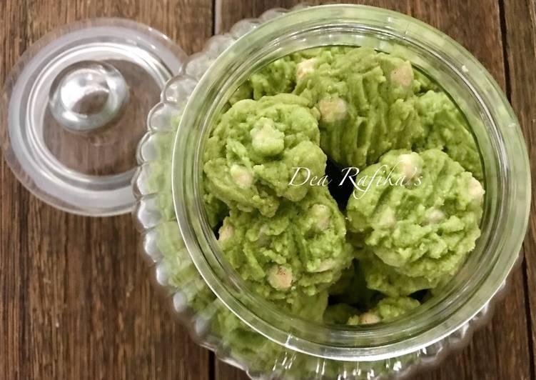 Resep mengolah Green tea white chocolate cookies enak