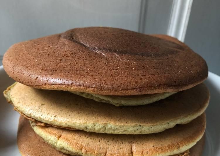 Resep membuat Fluffy green tea pancake
