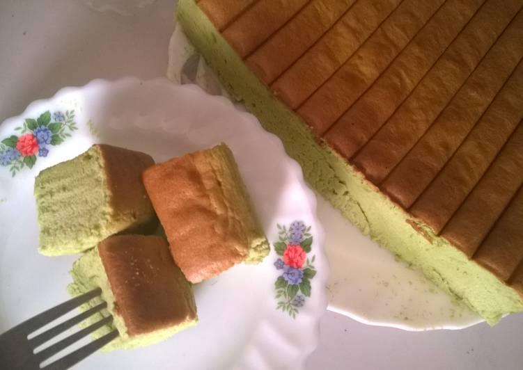 Resep: Green Tea Ogura Cake for matcha lovers! enak