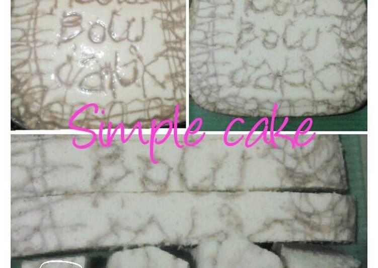 Cara mengolah simple sponge cake (sponge cake sederhara, bgtz....) cocok untuk snack anak, ato teman minum teh istimewa