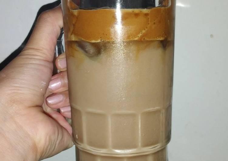 Resep memasak Dalgona milk tea