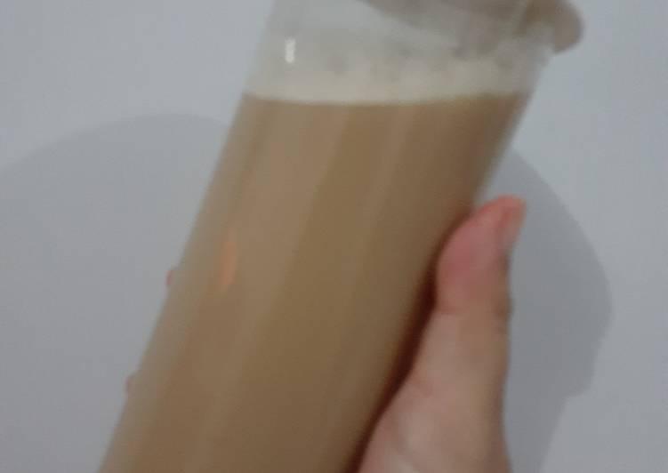Cara Mudah memasak Milk tea gula aren lezat
