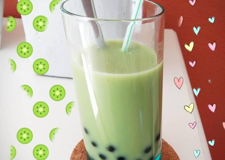 Cara Mudah membuat Green tea bubble pearl