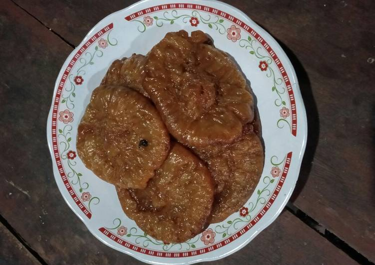Resep: Cucur gula jawa takaran sendok tanpa mixer
