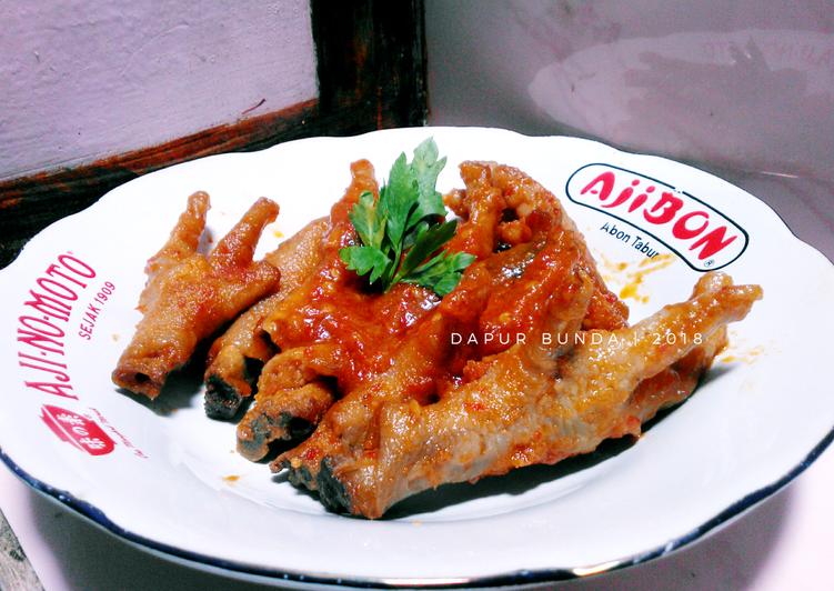 Resep membuat Ceker Pedas Lapindo khas Sidoarjo enak