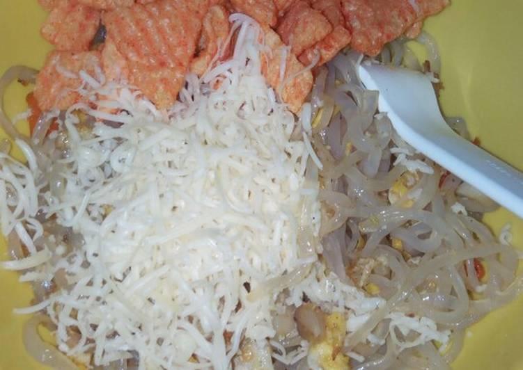 Resep: Shirataki tabur keju kerupuk udang ala debm