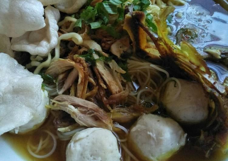 Resep: Resep mie sop bakso ayam medan istimewa