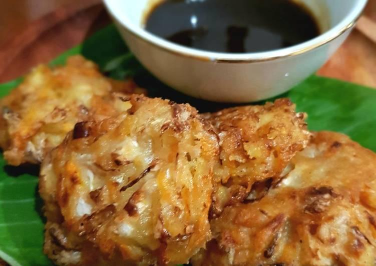 Resep: Ote - ote (bakwan sayur) sambal petis