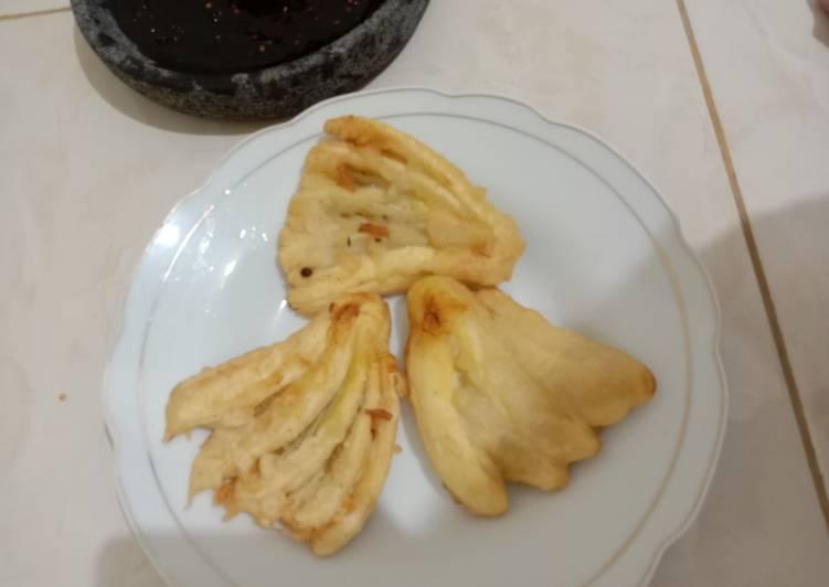 Cara memasak Pisang Kipas bati bati plus petis enak